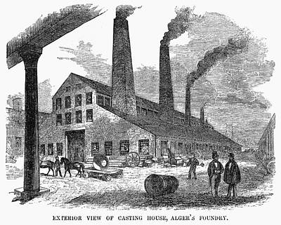 Painting - Boston Foundry, 1855 by Granger