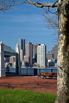 Photograph - Boston Framed by Caroline Stella