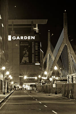 Boston Garder And Side Street Art Print