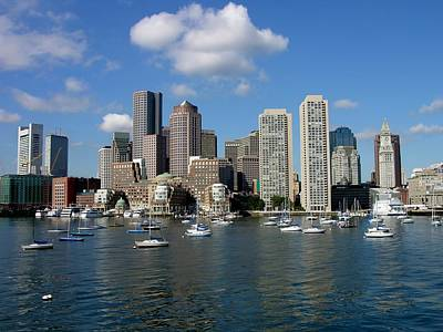 Photograph - Boston Habor Skyline by Keith Stokes
