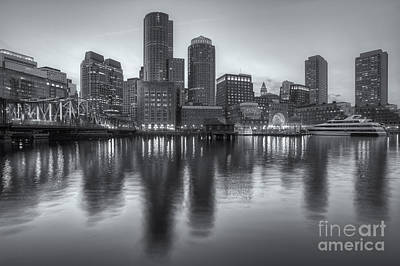 Photograph - Boston Harbor And Skyline At Twilight II by Clarence Holmes