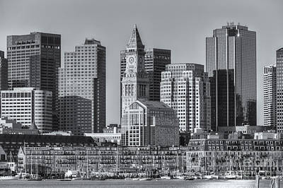 Photograph - Boston Harbor And Skyline II by Clarence Holmes