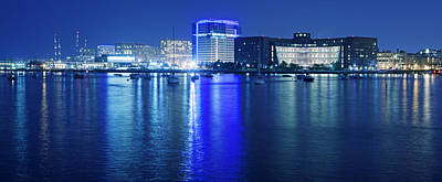 Photograph - Boston Harbor At Night by Alex Potemkin