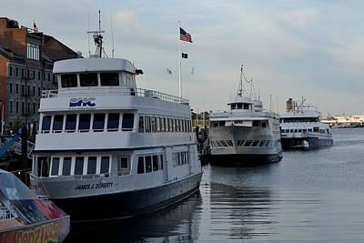 Photograph - Boston Harbor Cruise Three In A Row by Jatinkumar Thakkar