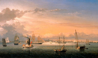 Fitz Painting - Boston Harbor by Fitz Henry Lane