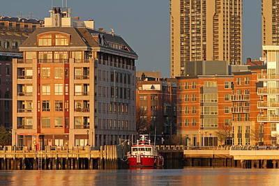Boston Harbor Luxury Living Print by Juergen Roth