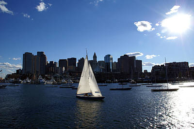 Sailboat Photograph - Boston Harbor by Olivier Le Queinec