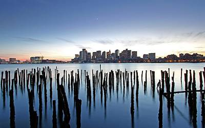 Boston Harbor Skyline With Ica Art Print by Juergen Roth