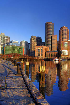 Photograph - Boston Harbor Sunrise 2 by Joann Vitali