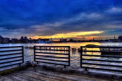 Boston Harbor Sunset 3 Art Print