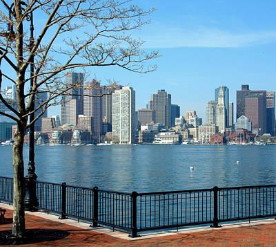 Photograph - Boston Harbor View by Caroline Stella