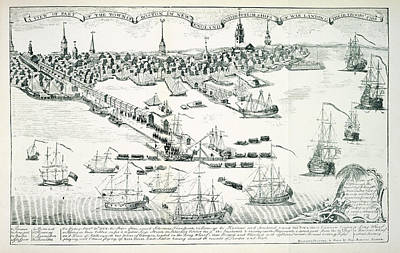 Boston Harbour Art Print by British Library
