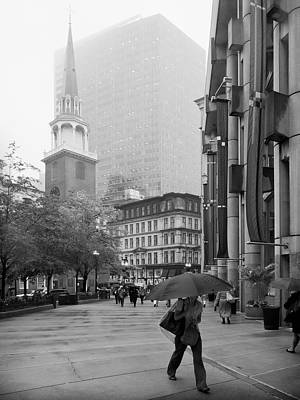 Boston Photograph - Boston In Rain - Old South Meeting House by Alexander Voss