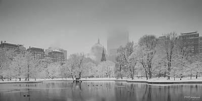 Boston In Snow Art Print