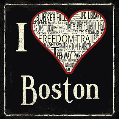 Boston Landmark Painting - Boston by Jo Moulton