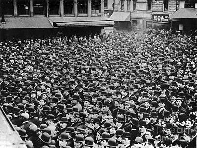 Boston Labor Demonstration, 1910s Art Print by Photo Researchers