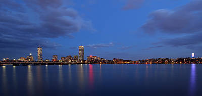 Boston Landmarks And Cisco Sign Art Print