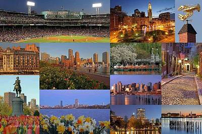 Fenway Park Photograph - Boston Landmarks Photography  by Juergen Roth