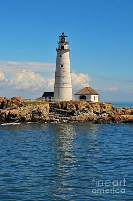 Boston Beantown City Light Lighthouse New England Massachusetts Navagator Photograph - Boston Light by Catherine Reusch Daley