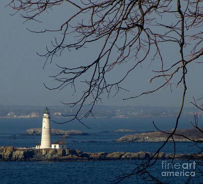 Photograph - Boston Lighthouse by Maria Scarfone