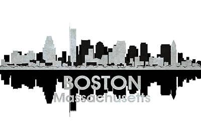 Abstract Skyline Mixed Media - Boston MA 4 by Angelina Tamez