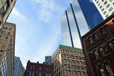 Photograph - Boston Ma Architecture 2 by Michael Saunders