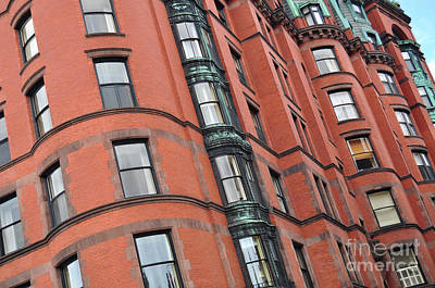 Photograph - Boston Ma Building Facade by Staci Bigelow