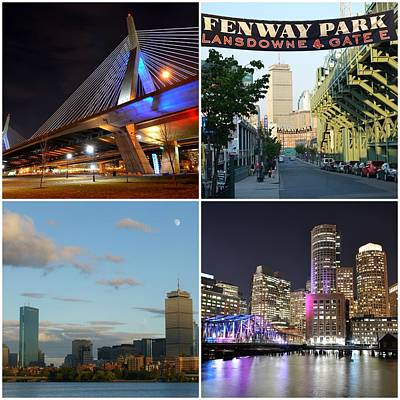 Photograph - Boston Ma Collage by Toby McGuire