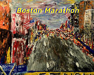 Boston Marathon 2 Art Print by Mark Moore