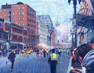 Boston Marathon Angels Original by Candace Lovely