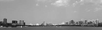 Photograph - Boston Massachusetts Black And White by Andrea Anderegg