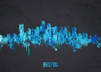 Painted Mixed Media - Boston Massachusetts Usa by Aged Pixel