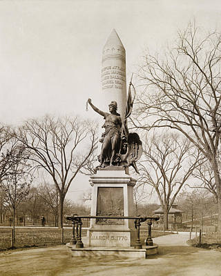 Vintage Photograph - Boston Massacre Monument - Boston Common by Joann Vitali