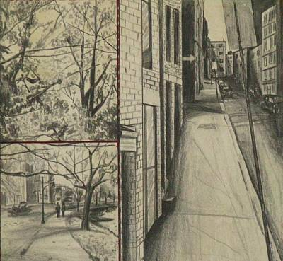 Drawing - Boston Memories by Michael Anthony Edwards