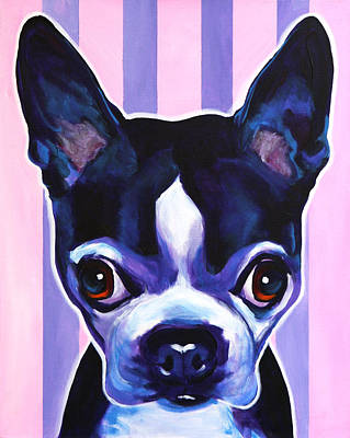 Boston Terrier Painting - Boston - Missy by Alicia VanNoy Call