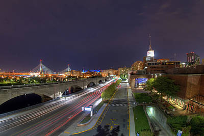 Photograph - Boston Night Cityscape by Joann Vitali