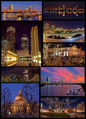 Boston Nights Collage Art Print by Joann Vitali