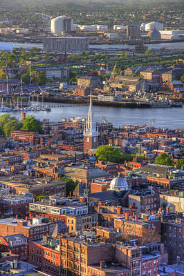 Boston North End Rooftops 2bo Art Print by Joann Vitali