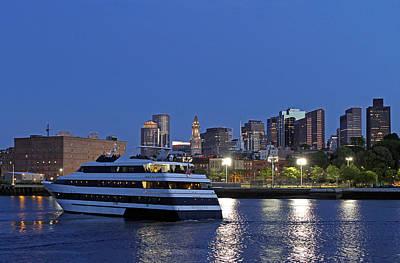 Boston Odyssey Cruise Ship Art Print by Juergen Roth
