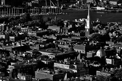 Boston Old North Church Black And White Art Print by Benjamin Yeager