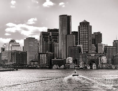 Skyline Photograph - Boston by Olivier Le Queinec