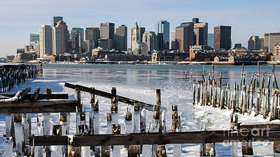 Art Print featuring the photograph Boston - On The Rocks by Stephen Flint