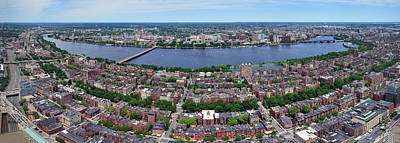 Photograph - Boston Panorama And Cambridge by Songquan Deng