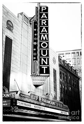 Photograph - Boston Paramount by John Rizzuto