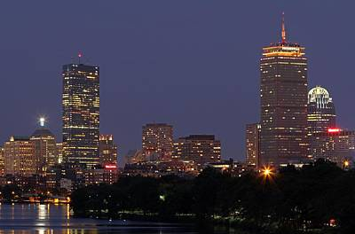 Charles River Photograph - Boston Prudential Center In Bruins Yellow by Juergen Roth