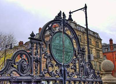 Photograph - Boston Public Garden Gate by Joann Vitali