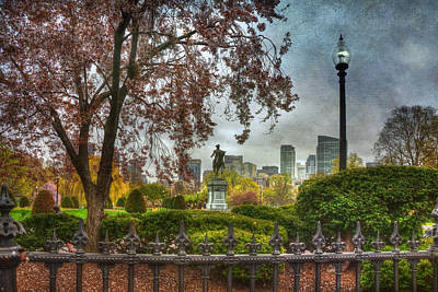Politicians Royalty-Free and Rights-Managed Images - Boston Public Garden George Washington Statue - Boston by Joann Vitali