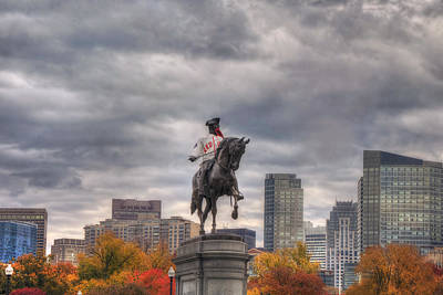 Boston Public Garden In Autumn Art Print by Joann Vitali