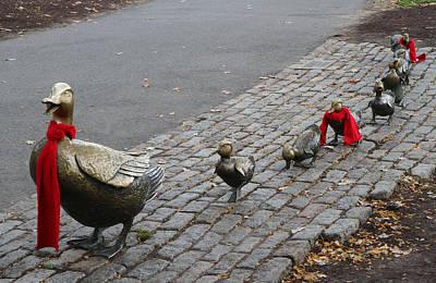 Massachusetts Photograph - Boston Public Garden - Make Way For Ducklings by Juergen Roth