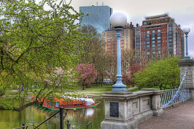 Photograph - Boston Public Garden Swan Boats by Joann Vitali